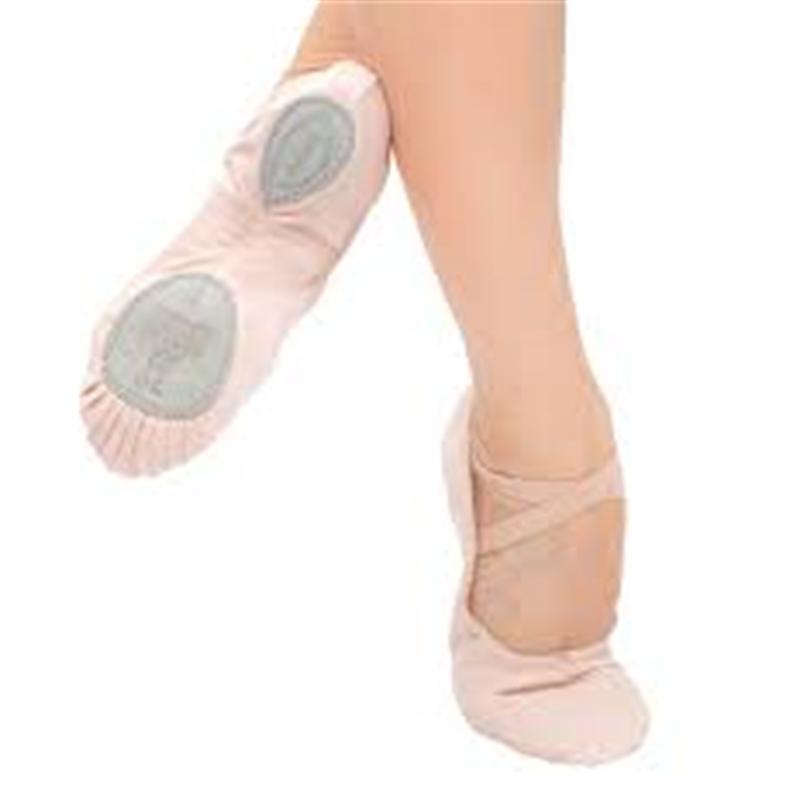 entrechat canvas split sole ballet slippers by