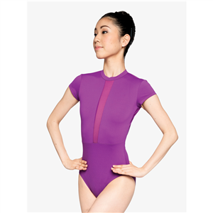 "Womens ""Fierce"" V-Back Mesh Insert Leotard"